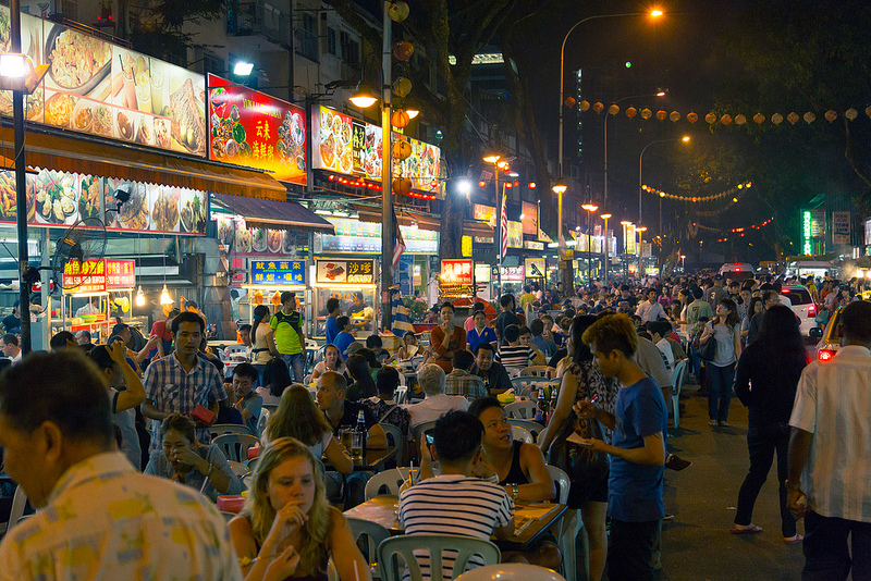 eating out in malaysia, jalan alor, healthy eating