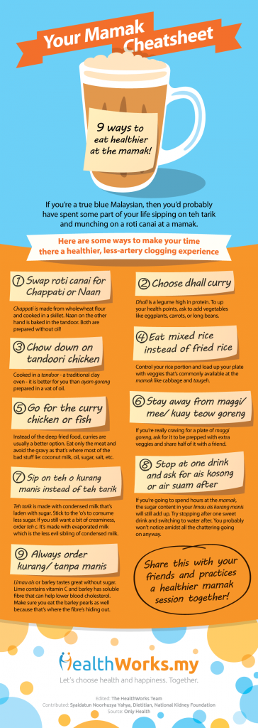 How to eat healthier at a mamak
