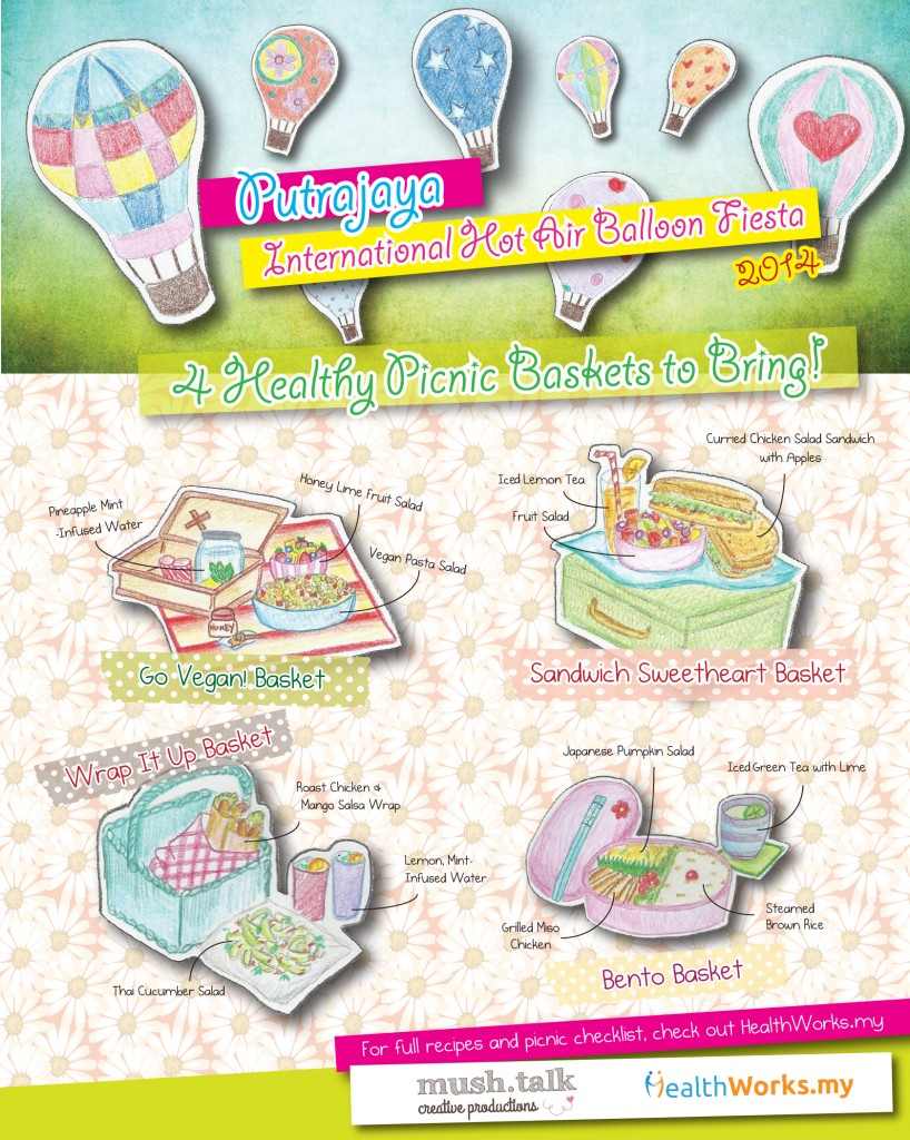 4 Healthy Picnic Baskets for Putrajaya Hot Air Balloon Fiesta