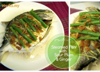 Steamed Fish with Sour Plum and Ginger Recipe