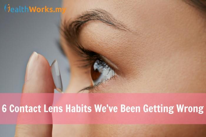 contact lens bad habits