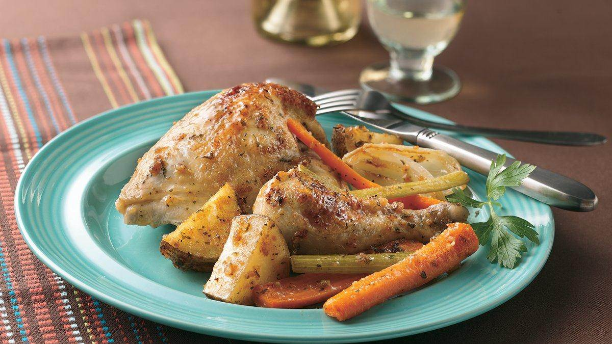 Baked Chicken with Herbs and Veggies Recipe