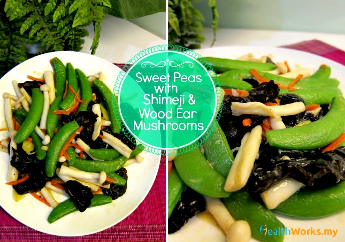 Sweet Peas with Mushrooms Stir Fry Recipe