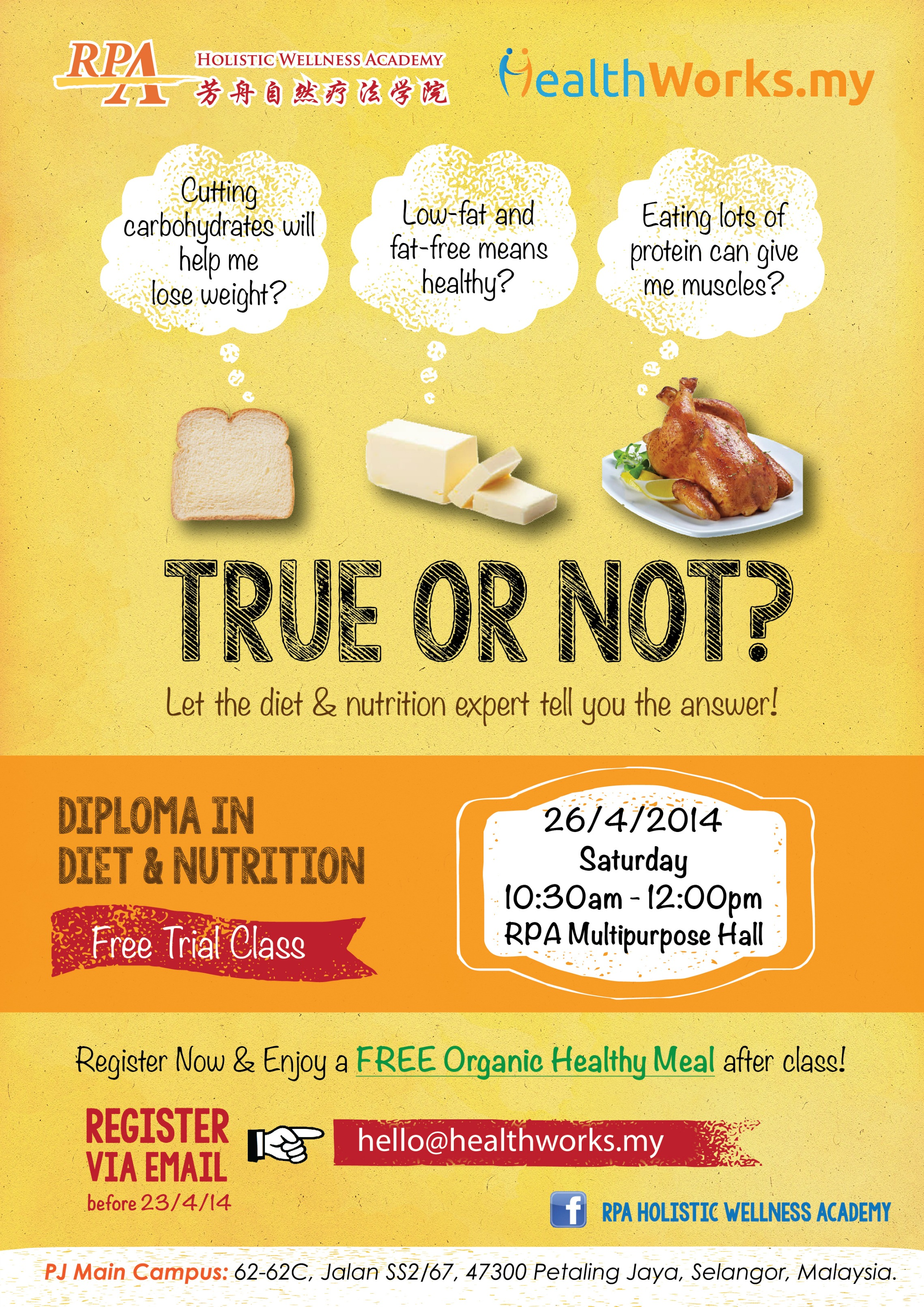Event: Debunking Nutrition Myths: Carbs, Fats, and Protein