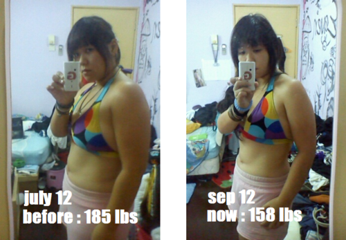 before after weight loss pics