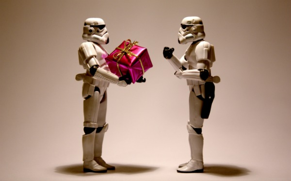Even storm troopers give presents | Source: gainesvillescene.com