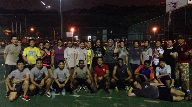 The Subang Recruits at Bootcamp (evening group) with our Corporals -- Corp Amir and Corp Lian