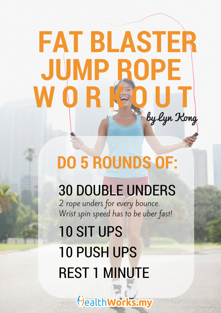 fat blaster jump rope workout