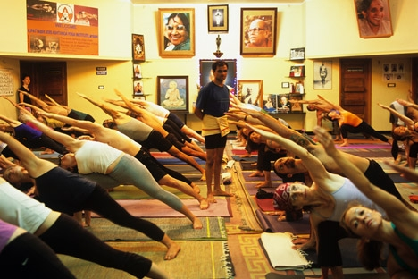 Sharath overseeing a class |Source: yoga.in