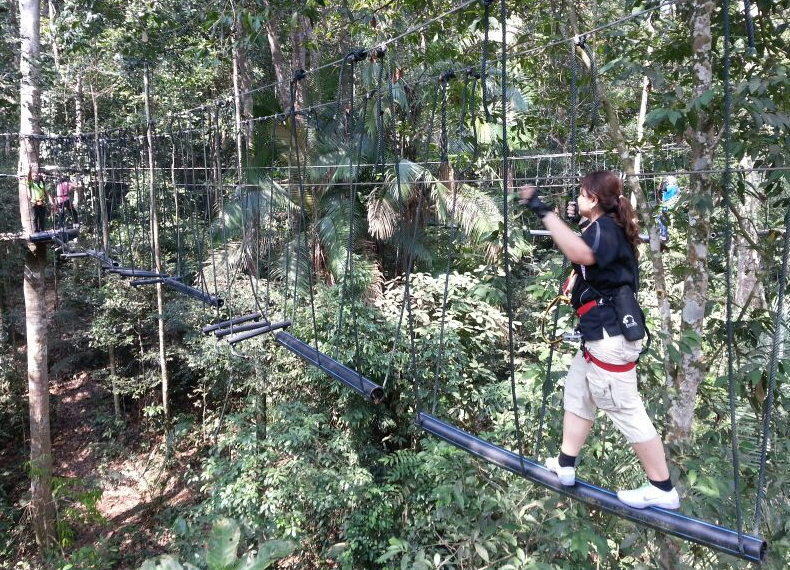At Skytrex Adventures, Bukit Cahaya Shah Alam. One item crossed off my bucket list!