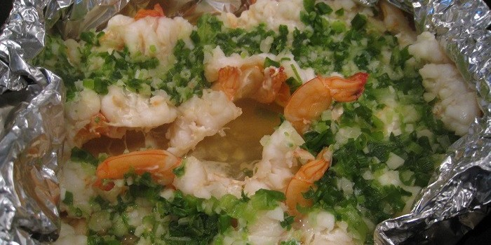 baked garlic prawns