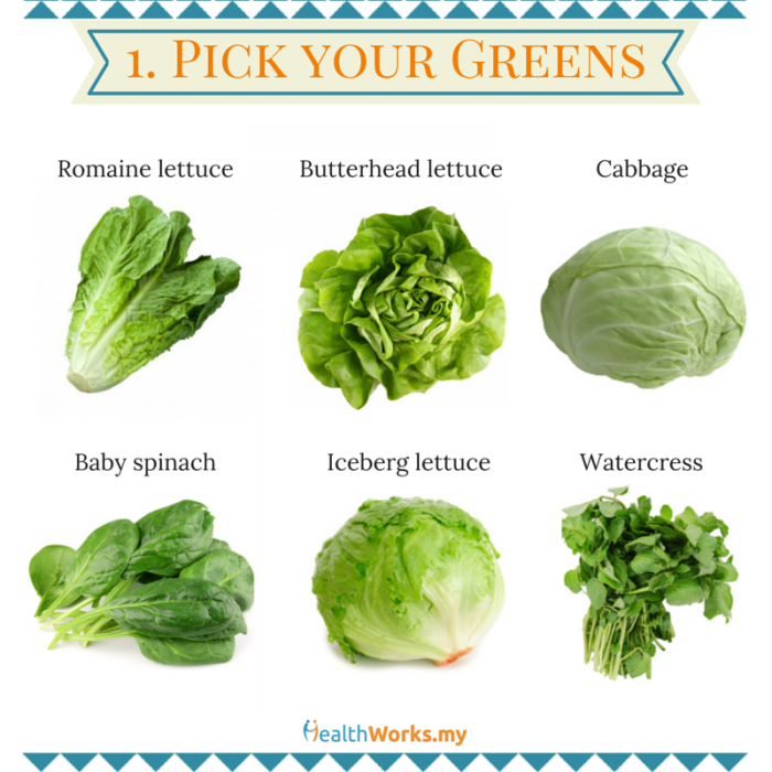 green salad base mix and match