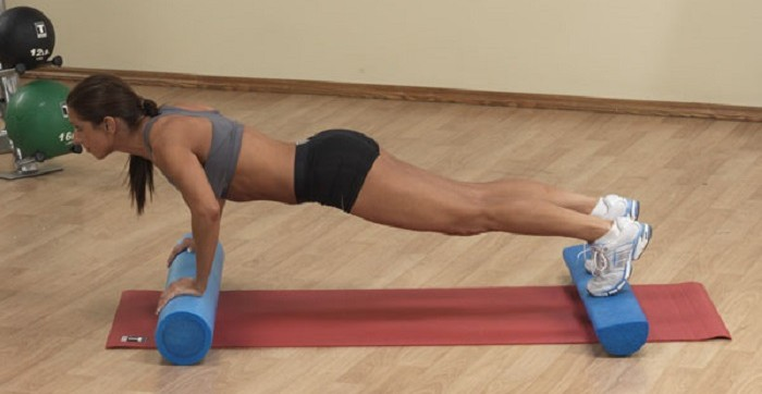 foam roller push up
