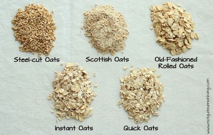 type of oats