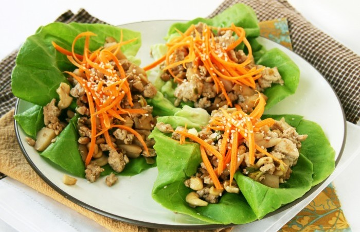 lettuce wrap chicken cashews