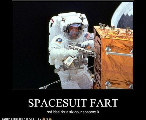 astronaut fart in space