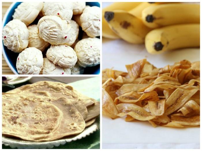 kuih bangkit banana chips chapati