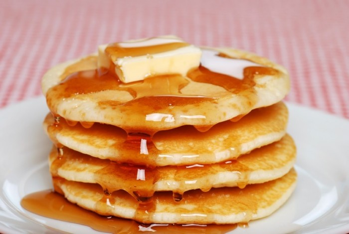 butter on pancake