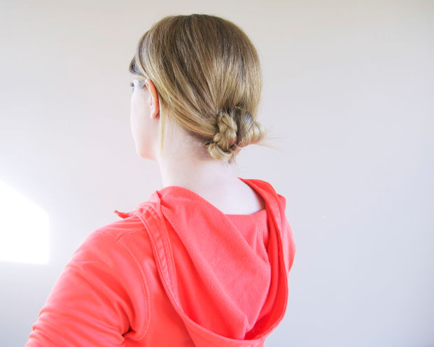 bun braid workout