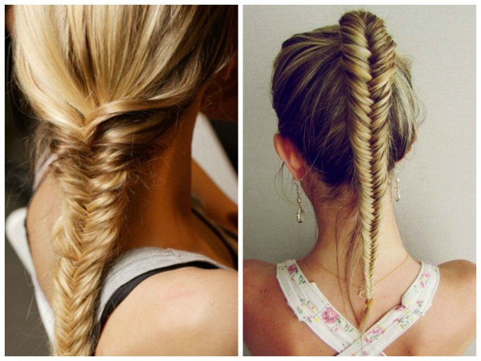 fishtail braid workout