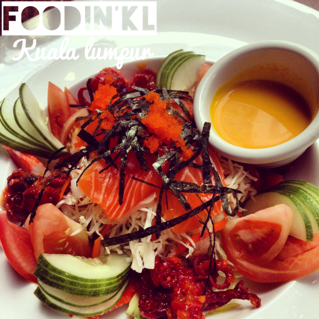 japanese kani and salmon sashimi salad the social