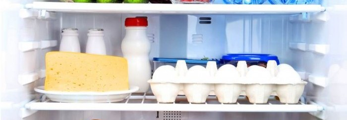 storing milk in fridge