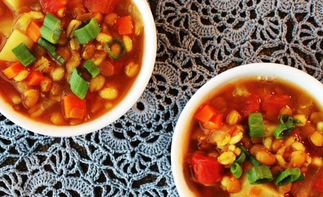 barley lentil soup