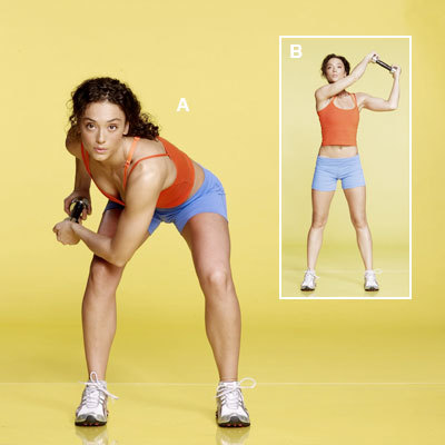 squat sweep standing abs workout